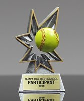 Picture of Bobble Action Softball Award