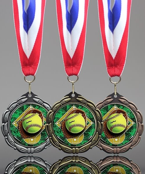 Picture of Epoxy-Domed Softball Medals