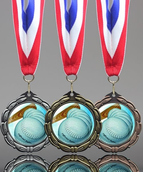 Picture of Classic Epoxy-Domed Softball Medals
