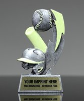 Picture of Glow In The Dark Baseball Trophy