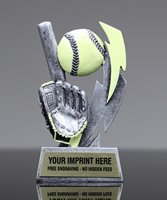 Picture of Glow In The Dark Softball Trophy