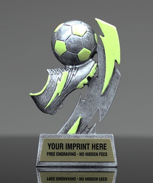 Picture of Glow In The Dark Soccer Trophy
