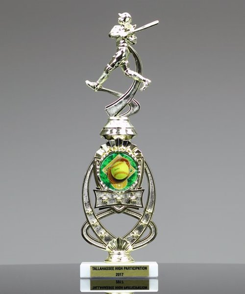Picture of Sport Motion Softball Trophy with StarBurst Riser