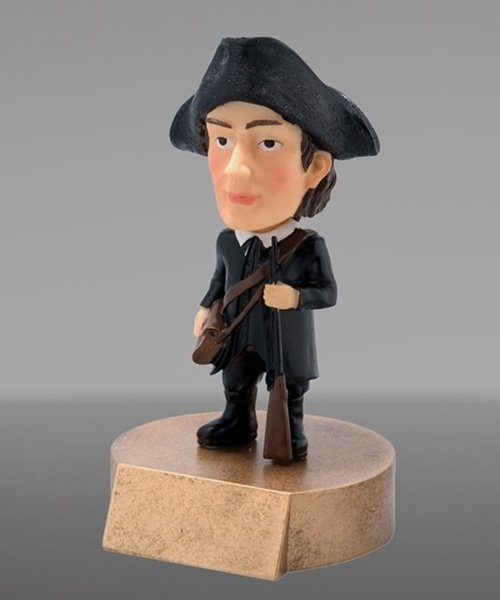Picture of Patriot Bobblehead Mascot Trophy