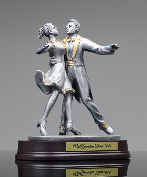 Picture of Ballroom Dancing in Pewter Finish
