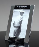 Picture of Engraved Silver Picture Frame