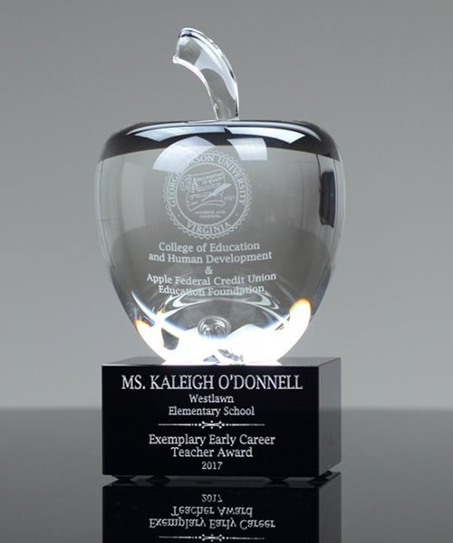 Picture of Classic Crystal Apple Award