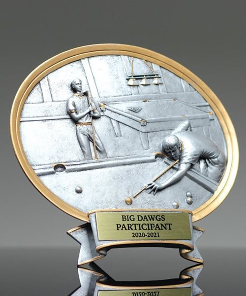 Picture of Billiards Oval Award