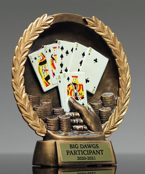 Picture of Poker Bronzestone Trophy