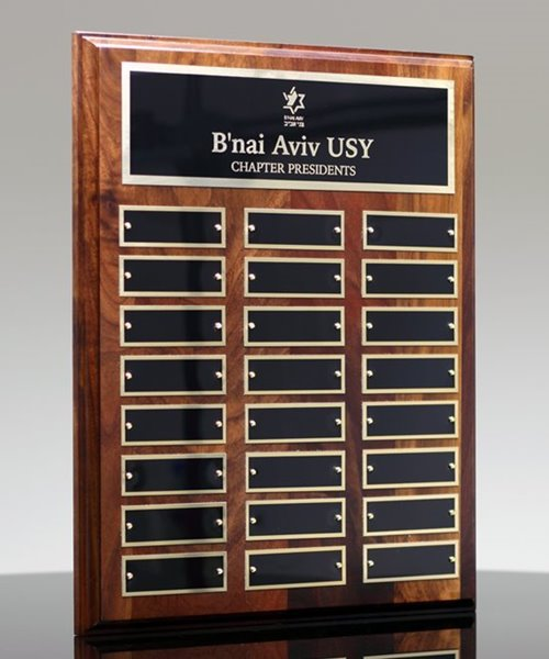 Picture of Employee Awards Walnut Plaque