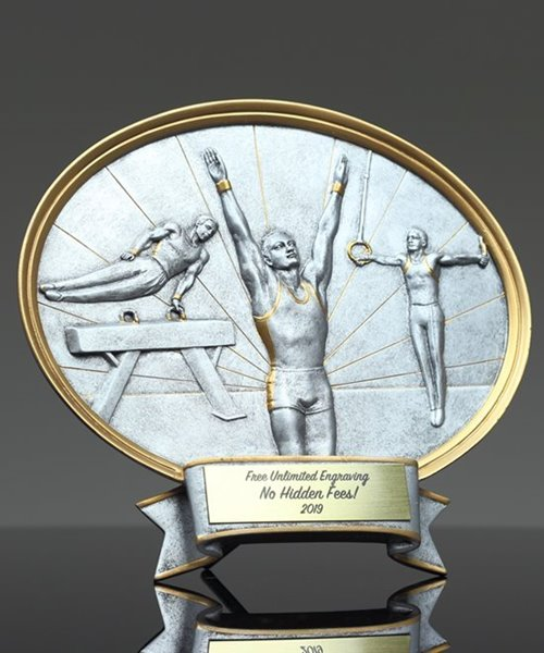 Picture of Silverstone Oval Male Gymnastics Trophy