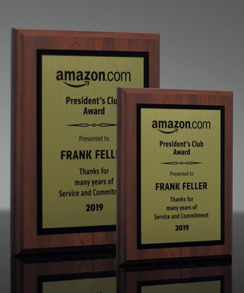 Picture of Sublimated Walnut Finish Plaque