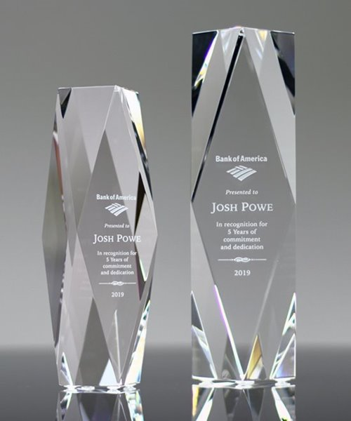 Picture of Presidents Tower Crystal Award