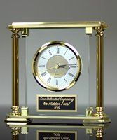 Picture of Glass & Brass Mantle Clock