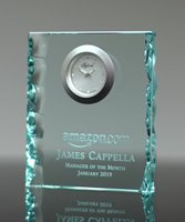Picture of Jade Crystal Desk Clock