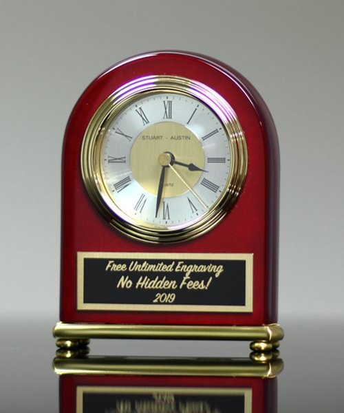 Picture of Arched Rosewood Clock