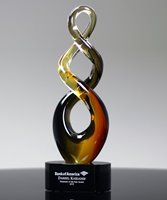 Picture of Teamwork Art Glass Award