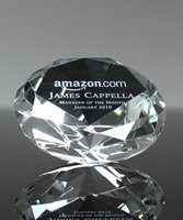 Picture of Crystal Diamond Paperweight