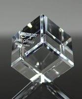 Picture of Crystal Cube Paperweight