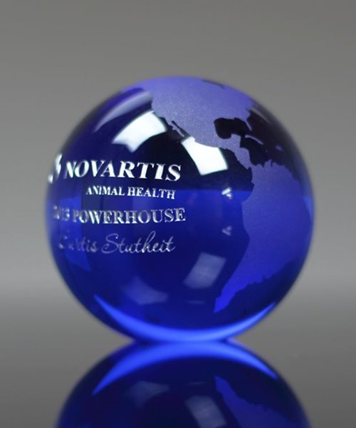 Picture of Blue Globe Paperweight