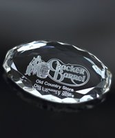 Picture of Multifaceted Crystal Paperweight Oval