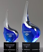Picture of Blue Wave Art Glass Award