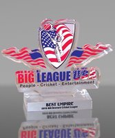 Picture of Logo Cut Cricket Acrylic Award
