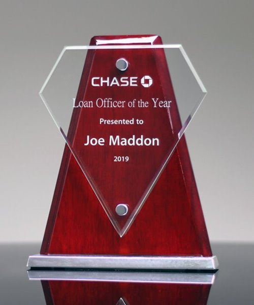 Picture of Vector Diamond Glass Award