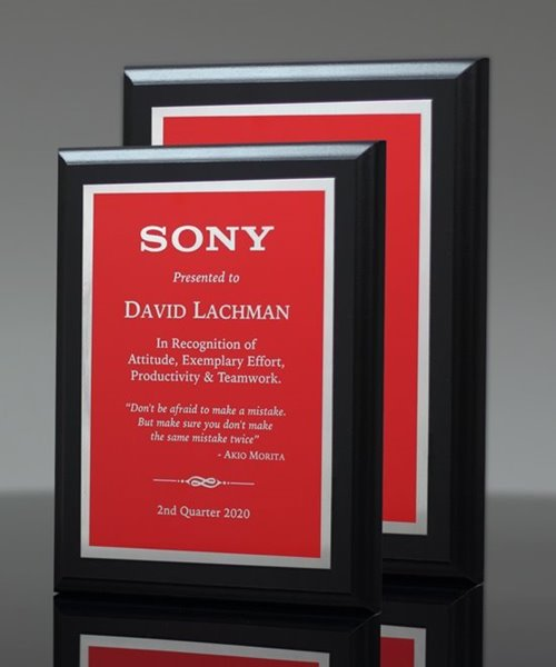 Picture of Associate Red Plaque
