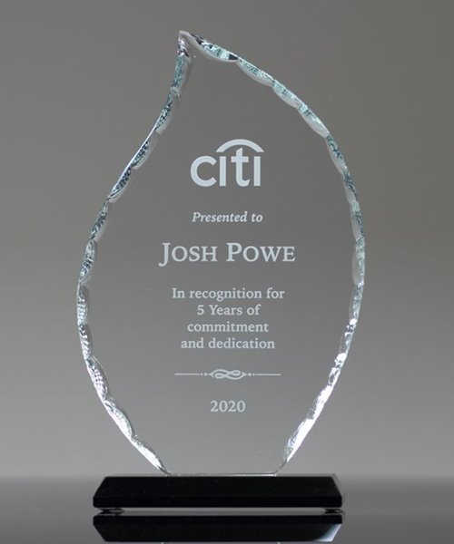 Picture of Facet Flame Glass Award