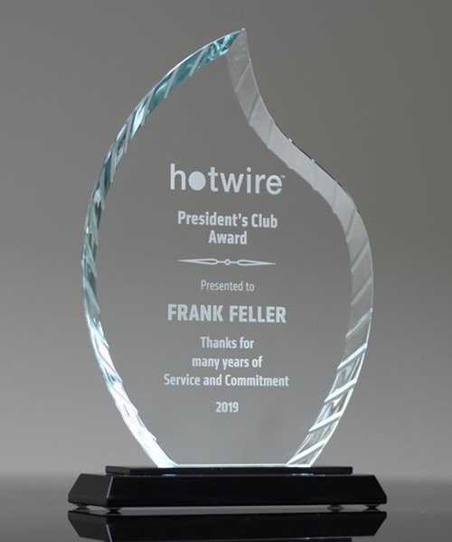 Picture of Accent Flame Glass Award