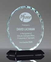 Picture of Facet Round Glass Award