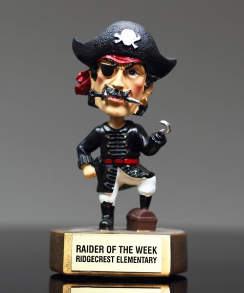 Picture of Pirate Bobblehead Mascot Trophy
