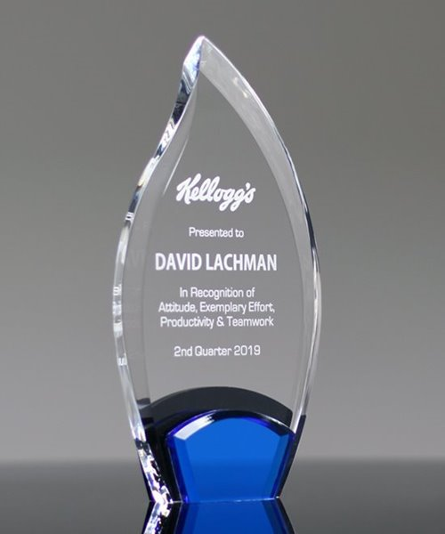 Picture of Azure Flame Acrylic Award
