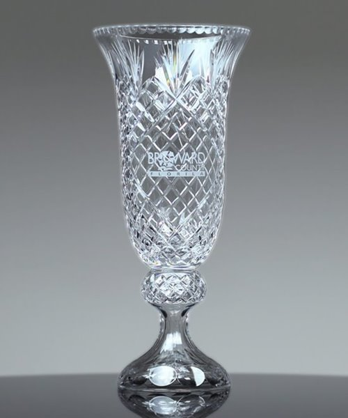 Picture of Cut-Crystal Hurricane Vase