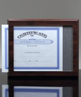 Picture of Certificate Slide-In Display Plaque Award