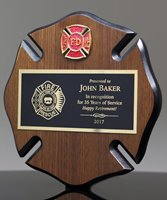 Picture of Walnut Maltese Cross Plaque
