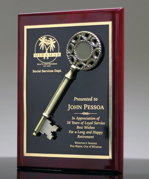 Picture of Key to the City Award Plaque