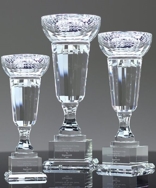 Picture of Elegant Crystal Trophy Cups