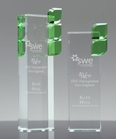 Picture of Green Leaf Crystal Award