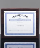 Picture of Walnut-Finish Certificate Plaque