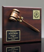 Picture of Walnut-Finish Gavel Plaque Award