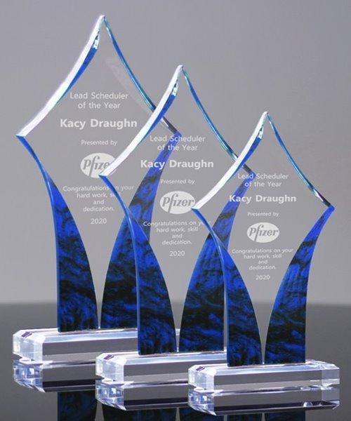 Picture of Sapphire Diamond Acrylic Awards