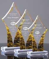 Picture of Golden Swirl Acrylic Award