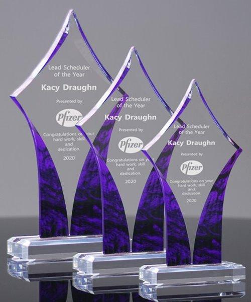 Picture of Purple Swirl Acrylic Award