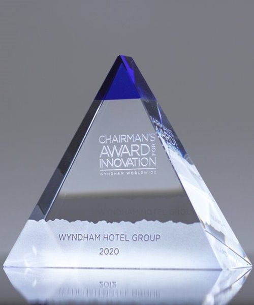 Picture of Blue Majestic Crystal Award