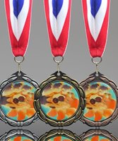Picture of Wrestling Epoxy Domed Medal