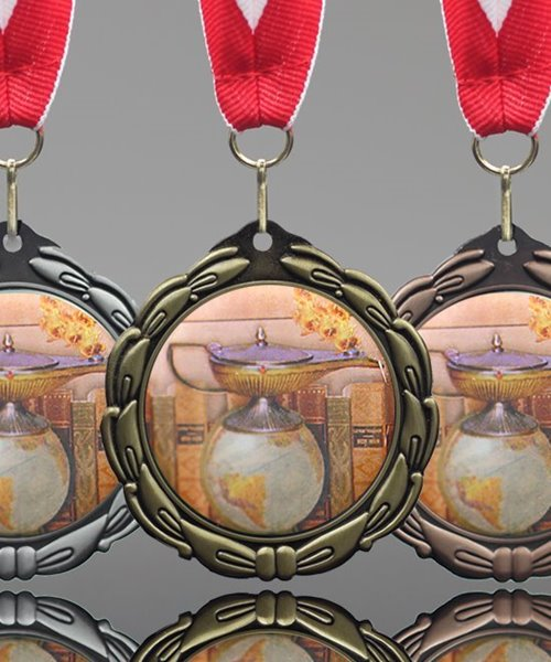Picture of Epoxy Domed Knowledge Medals