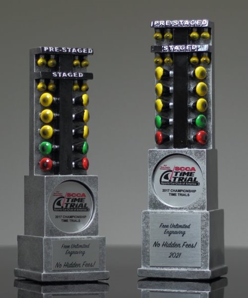 Picture of Drag Racing Light Resin Trophy