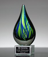 Picture of Contemporary Art Glass Trophy